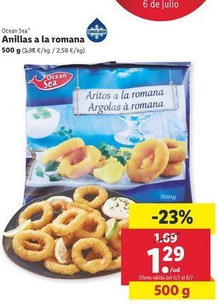 Oferta de Anillas a la romana ocean sea por 1,29€