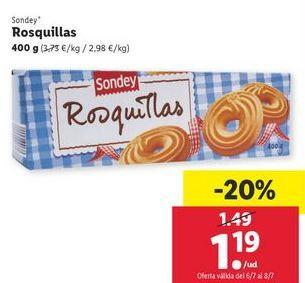 Oferta de Rosquillas sondey por 1,19€