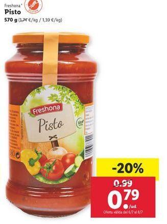 Oferta de Pisto Freshona por 0,79€