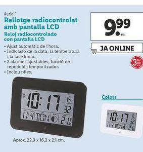 Oferta de Reloj radiocontrolado con pantalla Auriol por 9,99€