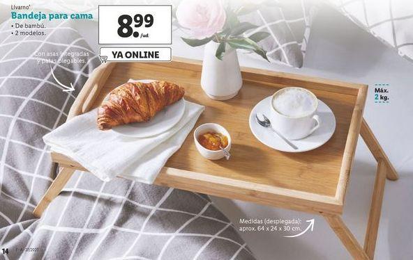 Oferta de Bandeja para cama Livarno por 8,99€