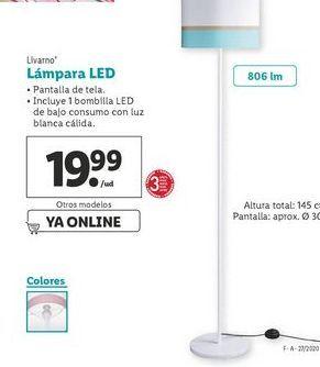 Oferta de Lámpara led Livarno por 19,99€