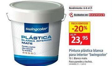 Oferta de Pintura plástica blanca por 23,95€