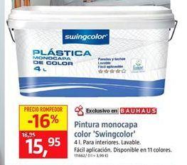 Oferta de Pintura plástica monocapa swingcolor por 15,95€