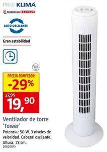 Oferta de Ventilador torre por 19,9€