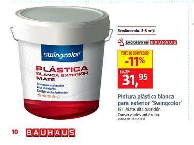 Oferta de Pintura plástica mate swingcolor por 31,95€