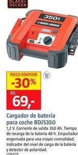 Oferta de Cargador de batería Black & Decker por 69€
