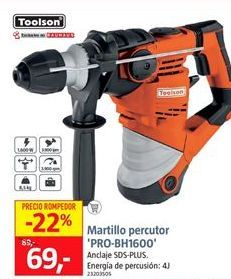 Oferta de Martillo percutor toolson por 69€