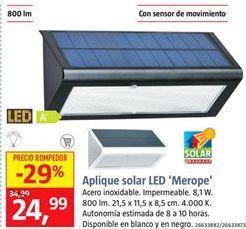 Oferta de Aplique solar por 24,99€