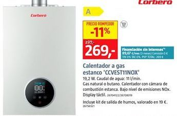 Oferta de Calentador Corberó por 269€