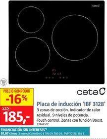 Oferta de Placa de inducción Cata por 185€
