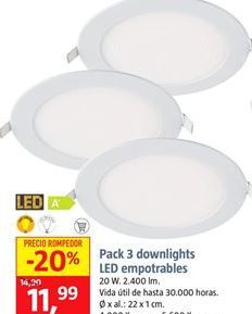 Oferta de Downlight led por 11,99€
