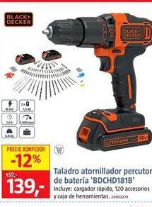 Oferta de Taladro atornillador Black & Decker por 139€