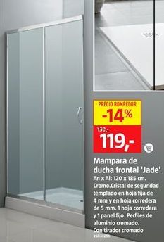 Oferta de Mampara de ducha por 119€