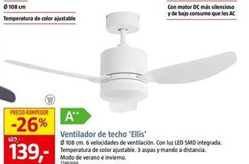 Oferta de Ventilador de techo por 139€