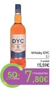 Oferta de Whisky DYC por 15,59€