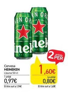 Oferta de Cervesa Heineken por 0,97€