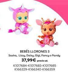 Oferta de Bebés Llorones 3 por 37,99€