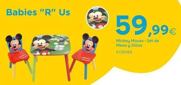 Oferta de Mickey Mouse - Set de Mesa y Sillas por 59,99€