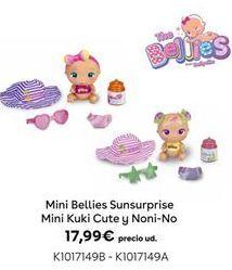 Oferta de Mini Bellies Sunsurprise Mini Kuki Cute y Noni-No por 17,99€