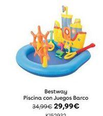 Oferta de PISCINA CON JUEGOS BARCO Bestway por 29,99€