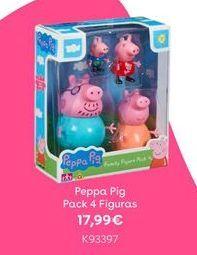 Oferta de Peppa pig Pack 4 Figuras por 17,99€