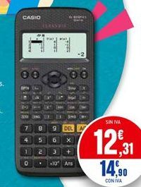 Oferta de Calculadora CASIO por 12,31€
