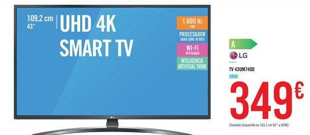Oferta de TV 43UM7400 por 349€