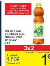 Oferta de Bebida a base de extracto de té NESTEA limón sin azúcar  por 1,5€