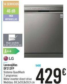Oferta de Lavavajillas DF212FP  LG por 429€