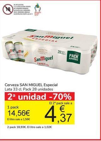 Oferta de Cerveza SAN MIGUEL Especial por 14,56€