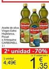 Oferta de Aceite de oliva Virgen Extra Hojiblanca, Picual o Arbequina CARBONELL por 4,49€