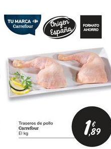 Oferta de Traseros de pollo Carrefour por 1,89€