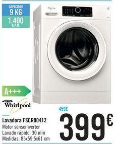 Oferta de Lavadora FSCR90412 por 399€