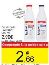 Oferta de Gel de baño LACTOVIT 900 ml por 2,9€