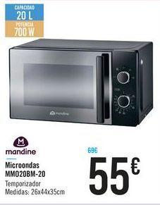 Oferta de Microondas Mandine por 55€