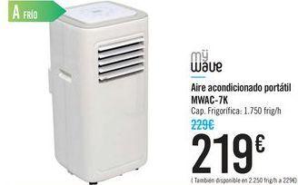 Oferta de Aire acondicionado portátil MWAC-7K MY WAVE por 219€