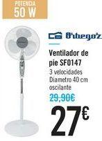 Oferta de Ventilador de pie SF0147 Orbegozo por 27€