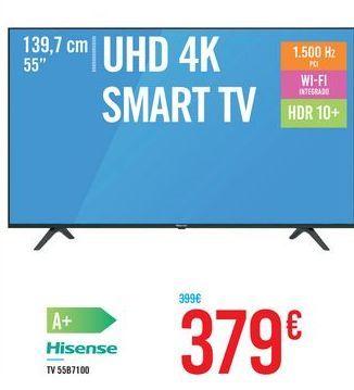 """Oferta de UHD 4K SMART TV 55"""" 55B7100 Hisense por 379€"""