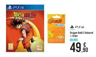 Oferta de Dragon Ball Z Kakarot + Grips PS4 por 49,9€