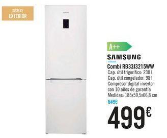 Oferta de Combi RB33J3215WW SAMSUNG por 499€