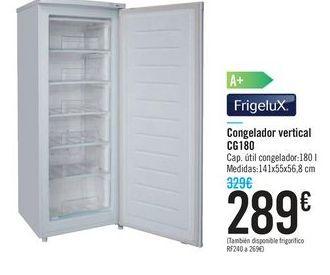 Oferta de Congelador vertical CG180 FrigeluX por 289€