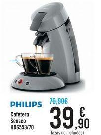 Oferta de Cafetera Senseo HD6553/70 PHILIPS por 39,9€