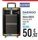 Oferta de Altavoz DSK222 DAEWOO por 50,92€
