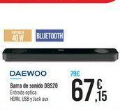 Oferta de Barra de sonido DBS20 DAEWOO por 67,15€