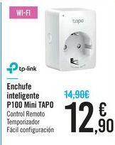 Oferta de Enchufe inteligente P100 Mini TAPO TP-LINK por 12,9€