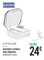Oferta de Auriculares wireless twins deportivo INNOVA por 24€