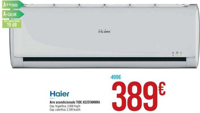 Oferta de Aire acondicionado TIDE AS35TAMHRA HAIER por 389€