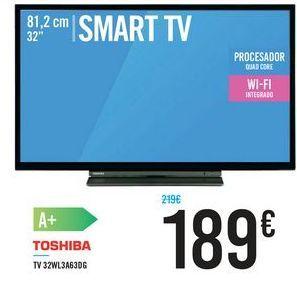 """Oferta de SMART TV 32"""" 32WL3A63DG TOSHIBA por 189€"""
