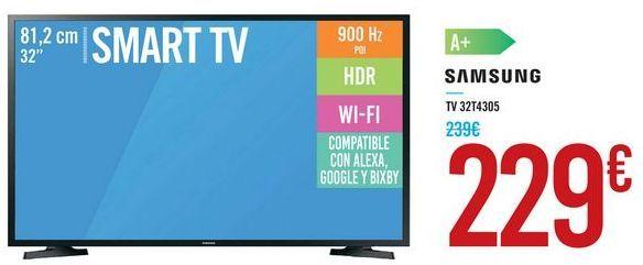 """Oferta de SMART TV 32"""" 32T4305 SAMSUNG por 229€"""